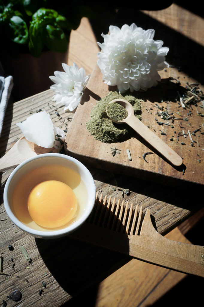 Укрепляющая маска для волос с зеленым чаем