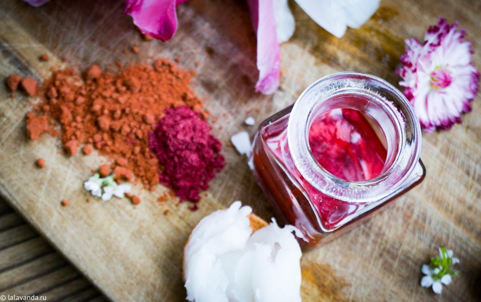 Домашняя косметика, декоративная косметика своими руками, флюид для губ и щек своими руками