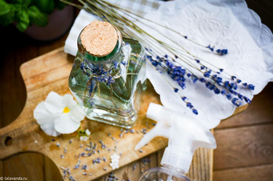 Домашний спрей для текстиля, домашняя косметика, спрей для тексиля с лавандой, хэндмэйд, DIY идеи для дома