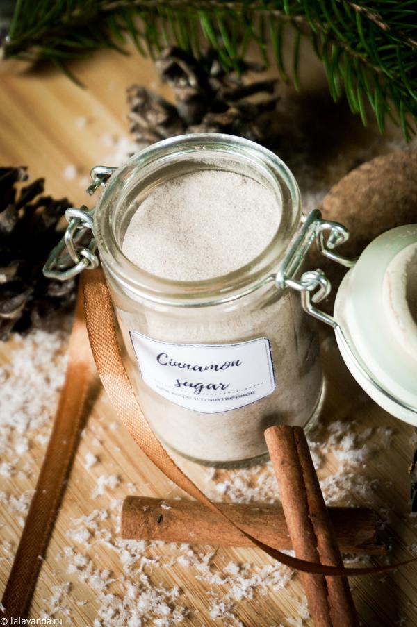 Новогодние подарки своими руками - сахар с имбирем и корицей для кофе и шоколада