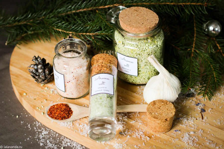 Новогодние подарки своими руками - ароматизированная соль