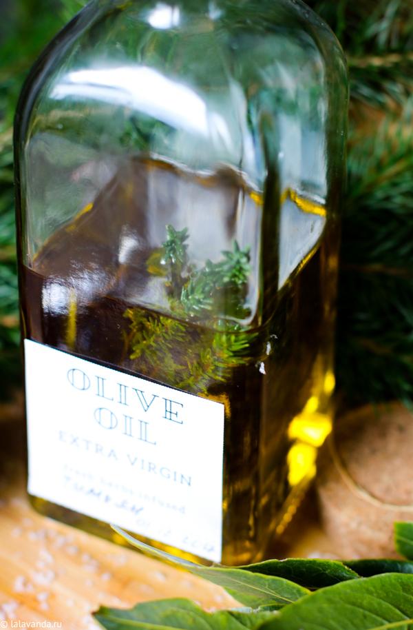 Новогодние подарки своими руками - масло с душицей для салатов