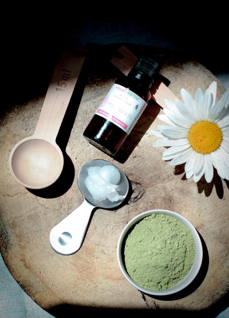 Домашняя маска для волос с чаем матча и провитамином В5
